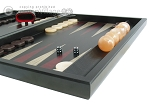picture of Black Backgammon Set with Racks - Red (6 of 12)
