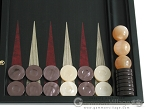 picture of Black Backgammon Set with Racks - Red (8 of 12)