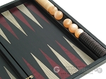 picture of Black Backgammon Set with Racks - Red (10 of 12)