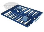 picture of 18-inch Deluxe Backgammon Set - Blue (3 of 9)