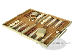 picture of 18-inch Deluxe Backgammon Set - Camel (3 of 9)