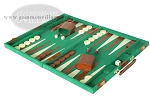picture of 15-inch Deluxe Backgammon Set - Green (3 of 9)