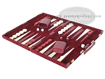 picture of 18-inch Deluxe Backgammon Set - Maroon (3 of 9)