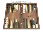 Walnut Backgammon Set with Colored Inlays - Item: 2282
