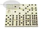 picture of Double 9 Venetian Dominoes in Colored Wood Box - Yellow (4 of 7)