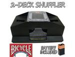 Bicycle 2-Deck Playing Card Shuffler with Batteries