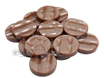 Backgammon Checkers - Acrylic - Brown (1 3/4in Dia.) - Roll of 15