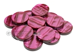 Backgammon Checkers - Acrylic - Burgundy (1 3/4in Dia.) - Roll of 15 - Item: 2245