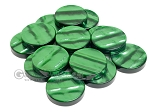 Backgammon Checkers - Acrylic - Green (1 3/4in Dia.) - Roll of 15 - Item: 2247