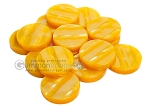 Backgammon Checkers - Acrylic - Yellow (1 3/4in Dia.) - Roll of 15 - Item: 2251