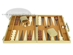 picture of 15-inch Deluxe Backgammon Set - Camel (4 of 9)