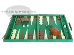 picture of 18-inch Deluxe Backgammon Set - Green (4 of 9)