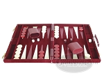 picture of 15-inch Deluxe Backgammon Set - Maroon (4 of 9)