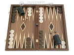 Walnut Backgammon Set wth Double Inlays - Item: 2283