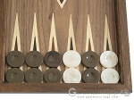 Walnut Backgammon Set wth Double Inlays