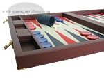 picture of Dal Negro Eco Leather Backgammon Set - Bordeaux (5 of 10)