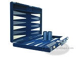 picture of 18-inch Deluxe Backgammon Set - Blue (5 of 9)