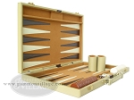 picture of 18-inch Deluxe Backgammon Set - Camel (5 of 9)
