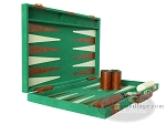 picture of 15-inch Deluxe Backgammon Set - Green (5 of 9)