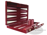picture of 18-inch Deluxe Backgammon Set - Maroon (5 of 9)