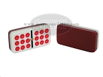 picture of Double 9 Bicolor Dominoes in Briar Wood Box (6 of 7)