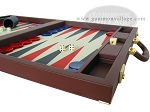picture of Dal Negro Eco Leather Backgammon Set - Bordeaux (6 of 10)