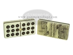 picture of Double 9 Venetian Dominoes in Colored Wood Box - Yellow (6 of 7)