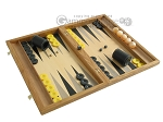 picture of Oak Backgammon Set with Racks (2 of 12)