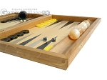 picture of Oak Backgammon Set with Racks (6 of 12)