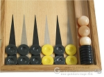 picture of Oak Backgammon Set with Racks (8 of 12)