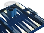 picture of 18-inch Deluxe Backgammon Set - Blue (6 of 9)