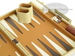 picture of 15-inch Deluxe Backgammon Set - Camel (6 of 9)