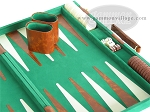 picture of 18-inch Deluxe Backgammon Set - Green (6 of 9)