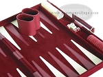 picture of 15-inch Deluxe Backgammon Set - Maroon (6 of 9)
