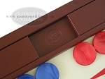picture of Dal Negro Eco Leather Backgammon Set - Bordeaux (7 of 10)