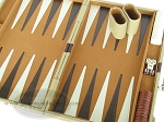picture of 18-inch Deluxe Backgammon Set - Camel (7 of 9)