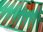 picture of 15-inch Deluxe Backgammon Set - Green (7 of 9)