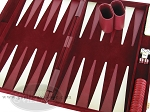picture of 18-inch Deluxe Backgammon Set - Maroon (7 of 9)