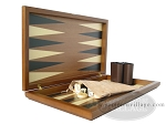 picture of Dal Negro Wood Backgammon Set - Walnut (8 of 10)