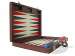 picture of Dal Negro Eco Leather Backgammon Set - Bordeaux (8 of 10)