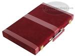 picture of 15-inch Deluxe Backgammon Set - Maroon (8 of 9)