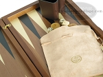 picture of Dal Negro Wood Backgammon Set - Walnut (9 of 10)