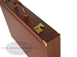 picture of Dal Negro Eco Leather Backgammon Set - Bordeaux (9 of 10)