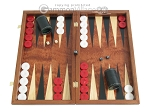 Rosewood Backgammon Set with Colored Inlays - Item: 2285