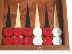 picture of Rosewood Backgammon Set with Colored Inlays (8 of 12)