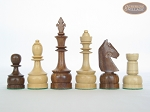 picture of Exclusive Staunton Maple Chessmen with Patterned Italian Leatherette Chess Board (5 of 5)