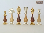 picture of Modern Italian Staunton Chessmen with Italian Brass Board with Storage (7 of 7)