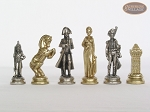 picture of French Heritage Chessmen with Patterned Italian Leatherette Board (6 of 6)