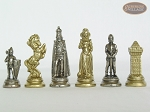 picture of The Aristocratic Chessmen with Patterned Italian Leatherette Board (7 of 7)