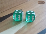 Precision Dice - Emerald Green - 5/8 in. - 1 pair (2 die) - Item: 1180